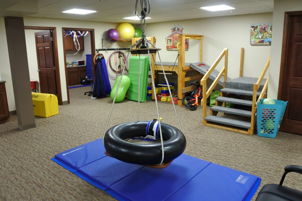 Pediatric Swings and Play Gym Area