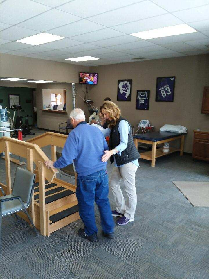 Staff working with balance on a patient