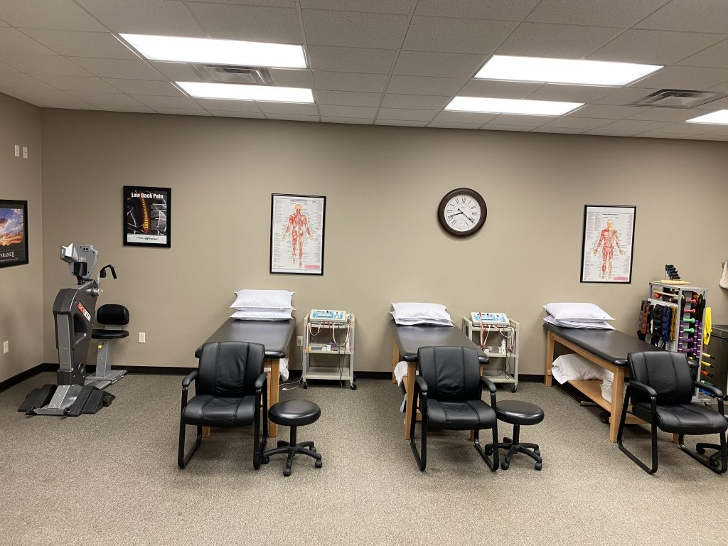 therapy tables and treatment center
